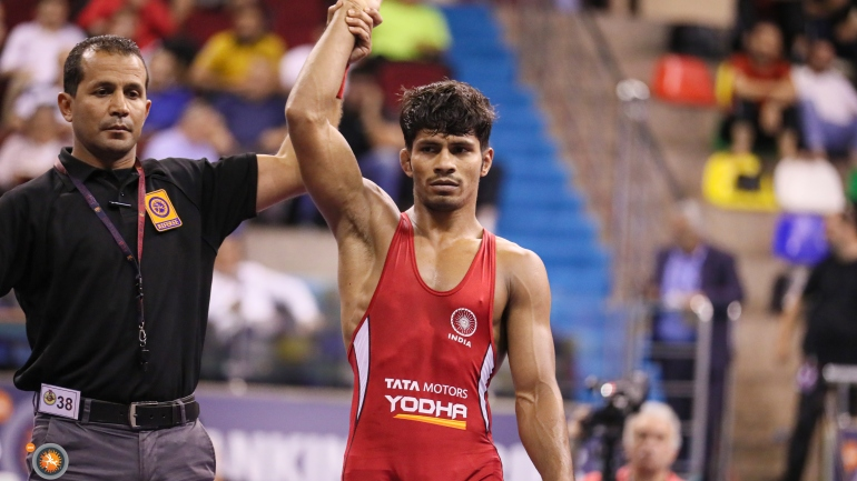 Asian Wrestling Championships: Rahul Aware wins 20 points heart-stopping thriller; enters last 4
