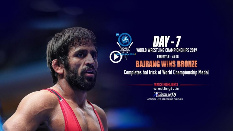 Bajrang Punia wins bronze, first Indian to win 3 world championship medals
