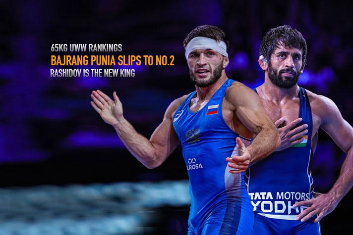 UWW Rankings: Bajrang Punia slips to number 2 in the world ranking
