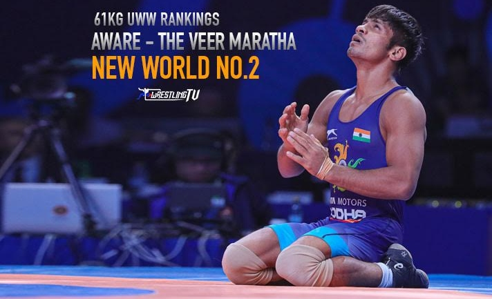 UWW Rankings: Rahul Aware is new world number 2 in 61kg category