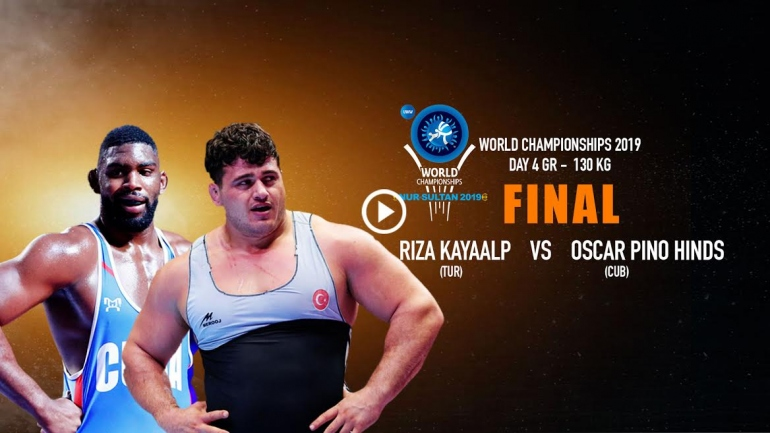 They are world's heaviest wrestler, they will fight for Gold  Watch Bull Fight LIVE Riza KAYAALP vs  Oscar PINO HINDS @ 6 PM