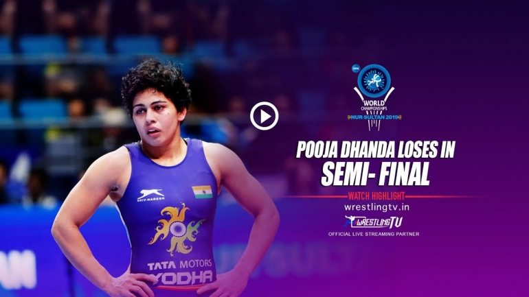 Pooja fails to create history; goes down in 59kg semi-final