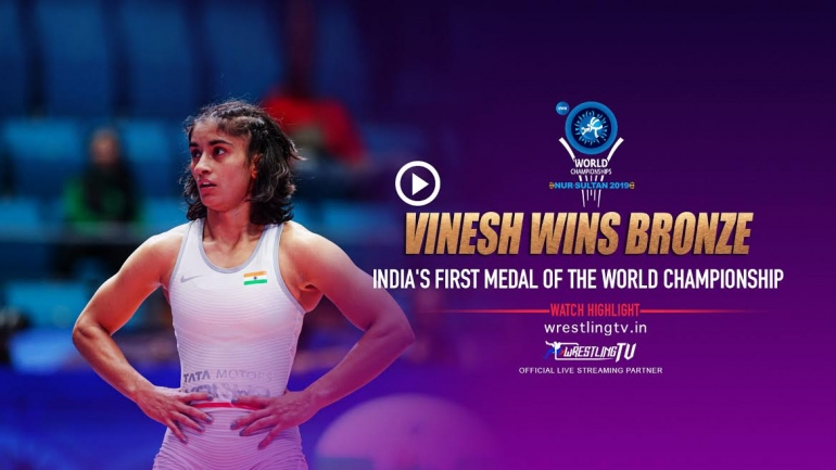 Vinesh wins historic bronze at the world championship, qualifies for Olympics