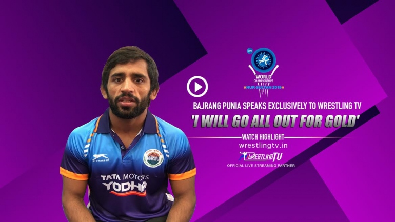 Bajrang Punia Speaks exclusively to WrestlingTV 'I will go all out for Gold'
