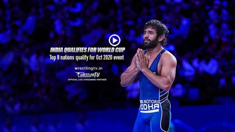 Indian Men Freestyle wrestling team qualifies for the Wrestling World Cup 2020