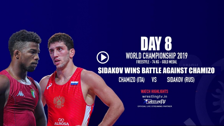 UWW World Championship: Sidakov defeats Chamizo to win match of the tournament