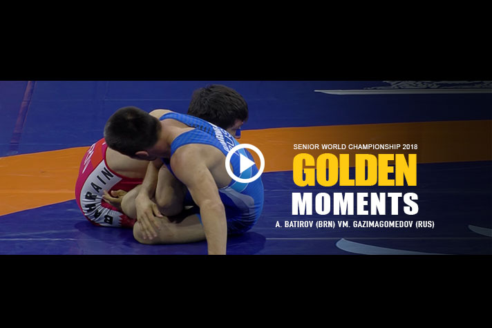 WORLD CHAMPIONSHIPS 2018- GOLDEN MOMENTS: A. BATIROV (BRN) VS M. GAZIMAGOMEDO (RUS)