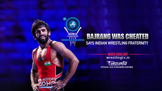 Bajrang was cheated says Indian wrestling fraternity
