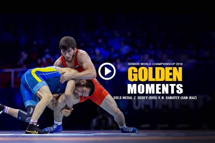 WORLD CHAMPIONSHIPS 2018- GOLDEN MOMENTS: Z. UGUEV (RUS) VS N. SANAYEV (SAN (KAZ)