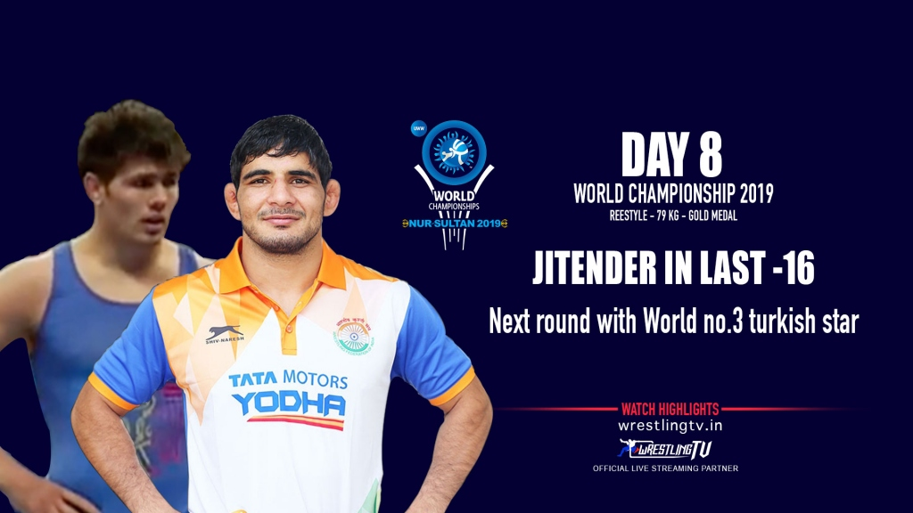 UWW World Championship 2019: Jitender moves into the second round with a 7-2 win over Gheorghi