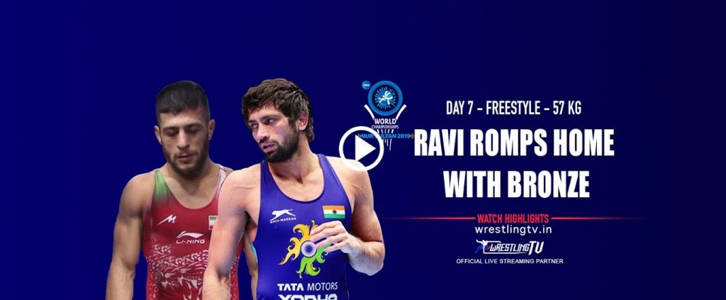 UWW World Championships 2019 Ravi Romps Home with Bronze