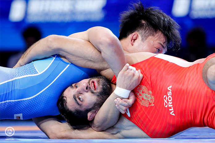 Georgia wins 2 Gold, Japan-Russia 1 on first night of World Wrestling Championship finals
