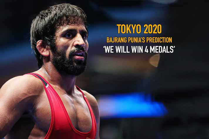 'We will win 4 Olympic medals at Tokyo 2020' : Bajrang Punia