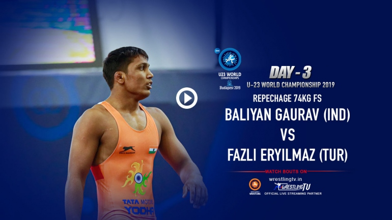 Heartbreak for Gaurav Baliyan (IND) vs Fazli Eryilmaz (TUR) in U23 World Wrestling Championships