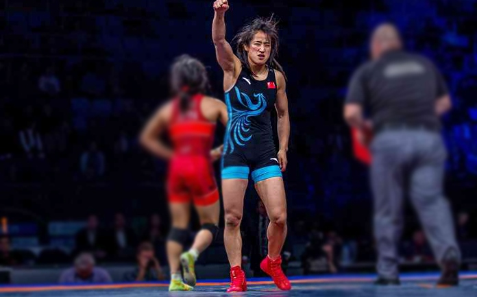China the new emerging power in women wrestling, Sun Yanan their bold face