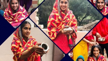 Wrestler Babita Phogat's marriage rituals begin, watch the pics