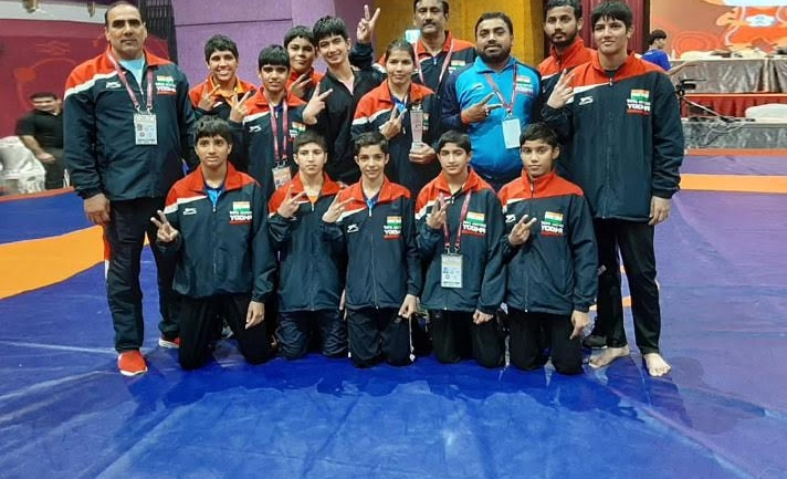 India win 5 more gold to finish campaign with 28 medals at U-15 Asian Wrestling Championships