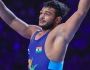 World Silver medallist Deepak Punia in action at Inter-services wrestling championship