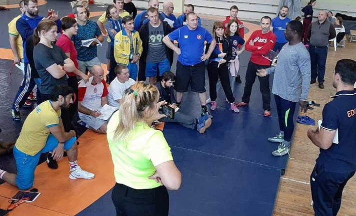 Ukrainian, Georgian Olympic committees host level 2 wrestling coaches and referees course