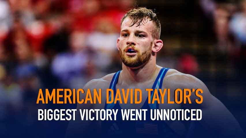 American David Taylor's biggest victory went unnoticed