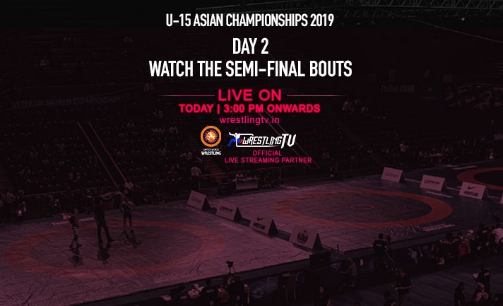 Asian U-15 Wrestling Championships : Day 2, Watch the semi-final bouts live at 3PM on WrestlingTV.in