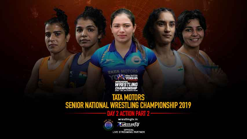 TATA Motors Senior National Wrestling Championship 2019 Day -2