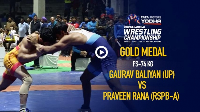 Gaurav Baliyan beats Praveen Rana to win Gold 74kg, he is the new star of Indian Wrestling
