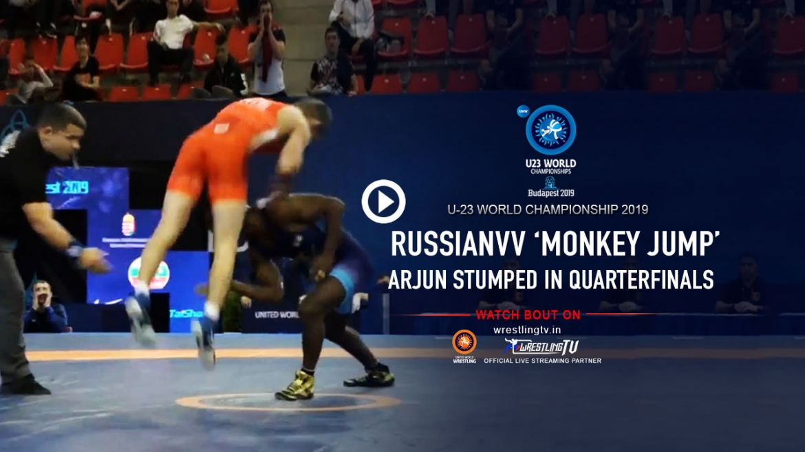 This 'monster move' by Russian costed Arjun place in the semi-finals in U23 world wrestling Championships