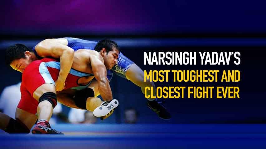 Narsingh Yadav's most toughest & closest fight ever