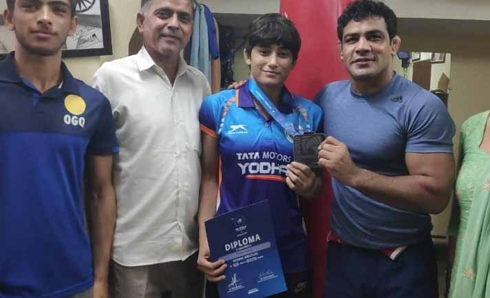 Sushil Kumar mighty impressed with talent of UWW U23 Wrestling (Kushti) medallist Pooja Gehlot
