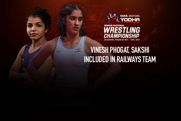 Senior National Wrestling Championships 2019: Vinesh Phogat, Sakshi included in Railways team