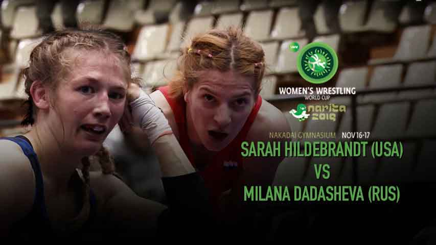 The most fearsome bout of World Cup wrestling Sarah Hildebrandt (USA) vs Dadasheva (Russia)