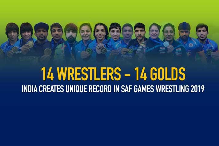 Gaurav, Anita wins, India creates unique record as all 14 wrestlers finished with 14 gold medals