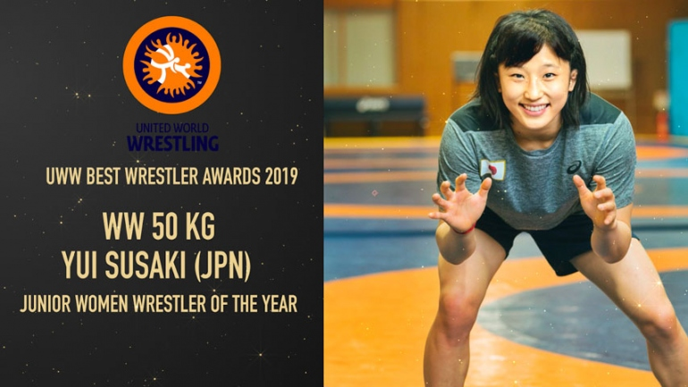 UWW Best Wrestler Awards: Watch Yui SUSAKI Best Junior Women Wrestler of the Year 2019