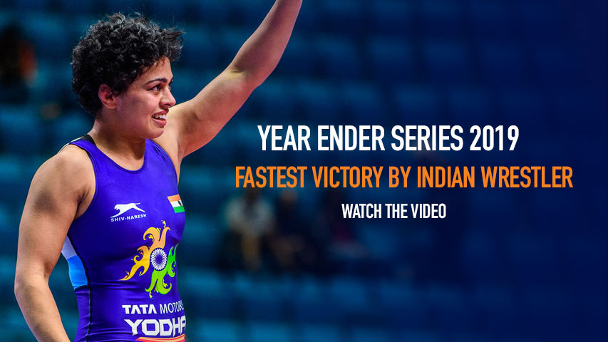 Watch the Fastest Victory by Indian Wrestler in 2019