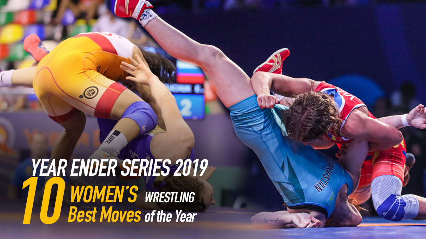 Women's Wrestling - Watch the Ten Best Moves of Year 2019