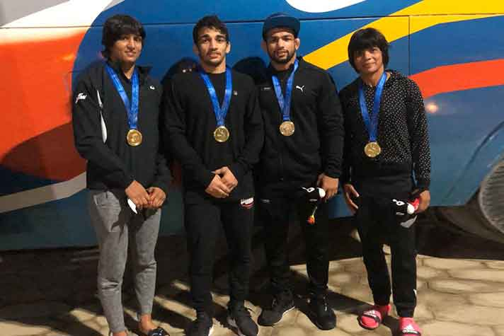 SAF Games 2019 Wrestling Day 1 : Indian wrestlers shine, wins 4 gold