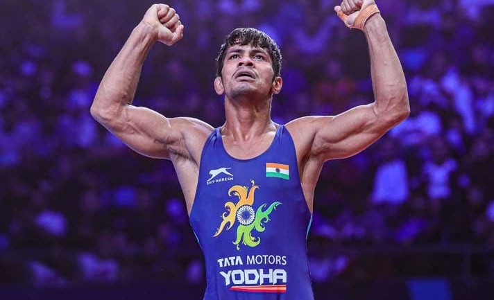 Watch Rahul Aware take on Pakistani wrestler Muhammad Bilal and other Indian wrestlers Live and Exclusive in Asian Championships only on WrestlingTV.in