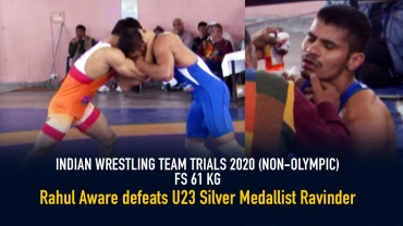 Indian Team Trials : Rahul Aware defeats U23 silver medallist Ravinder, watch the full bout video of the most interesting Indian wrestling fight