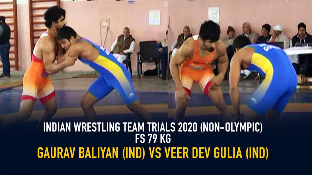 Indian Wrestling Team Trials 2020 (NON-OLYMPIC) – FS 79 KG – Gaurav Baliyan DF Veer Dev Gulia By 6-0