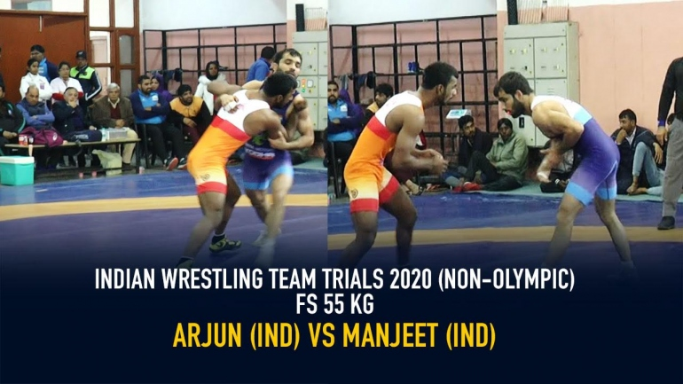 Indian Wrestling Team Trials 2020 (NON-OLYMPIC) GR 55 KG – Arjun DF. Manish By 9-0