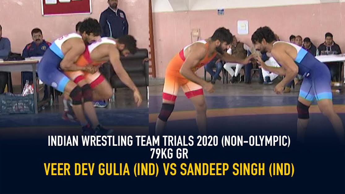 Indian Wrestling Team Trials 2020 (NON-OLYMPIC)FS 79 KG – Veer Dev Gulia VS Sandeep Singh