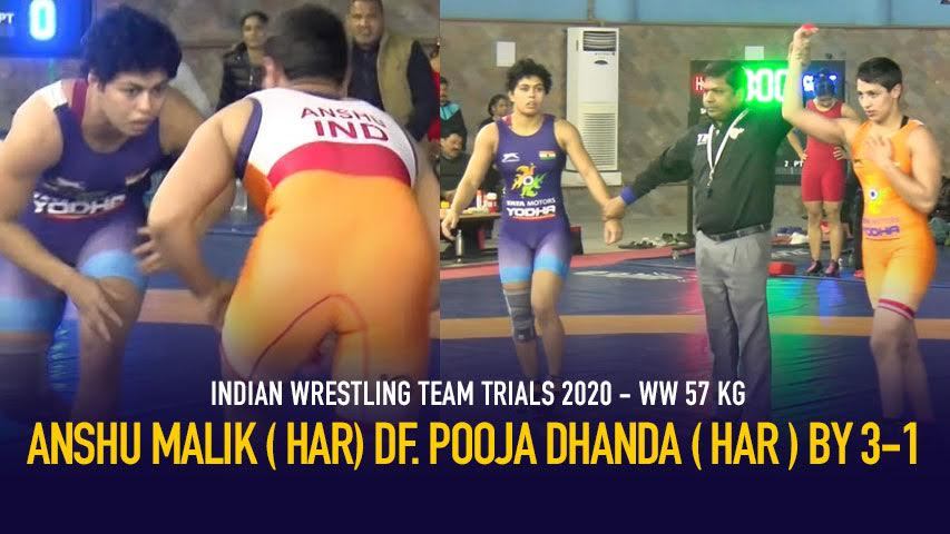 Indian Wrestling Team Trials 2020 – Day 2 – WW 57 KG – Anshu Malik ( HAR) VS Pooja Dhanda ( HAR )