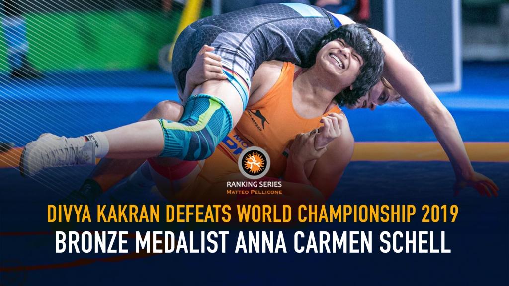 Divya Kakran defeats World championship 2019 Bronze medalist Anna Carmen Schell to enters Semi-final