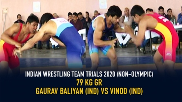 Indian Wrestling Team Trials 2020 (NON-OLYMPIC) FS 79 KG – Gaurav vs Vinod