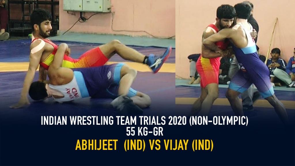 Indian Wrestling Team Trials 2020 (NON-OLYMPIC) GR 55 KG - Abhijeet VS Vijay