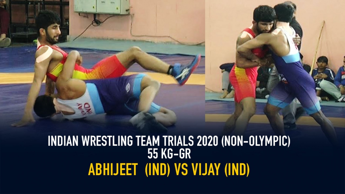 Indian Wrestling Team Trials 2020 (NON-OLYMPIC) GR 55 KG – Abhijeet VS Vijay
