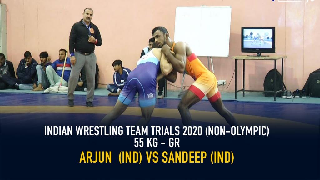 Indian Wrestling Team Trials 2020 (NON-OLYMPIC) GR 55 KG - Arjun VS Sandeep