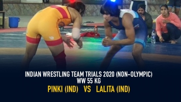 Indian Wrestling Team Trials 2020 (NON-OLYMPIC) – WW 55 kg Final – Pinki vs Lalita
