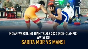 Indian Wrestling Team Trials 2020 (NON-OLYMPIC) WW 59 kg – Sarita Mor VS Mansi